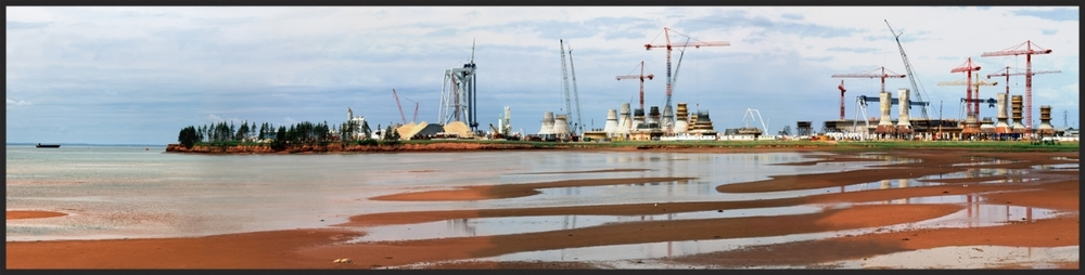 Bridge Construction Yard PEI Canada