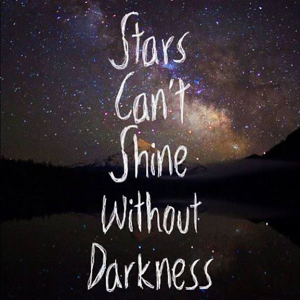 Can Stars Shine Without Darkness?