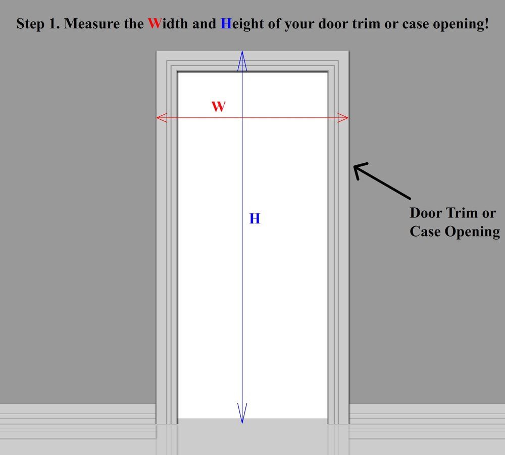 Superieur Take Note Of The Width And Height In Feet And Inch, For Both Round To The  Nearest Inch. If There Is No Door Trim And Only A Case Opening Just Measure  The ...