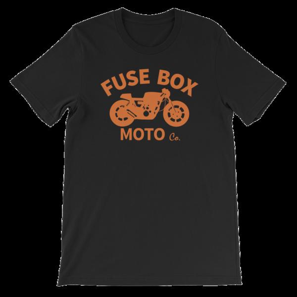 Orange Fuse Box Moto Co. Cafe Racer T-Shirt