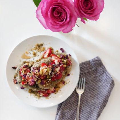 In the Kitchen With: Diana Leahy's Rosewater Pancakes