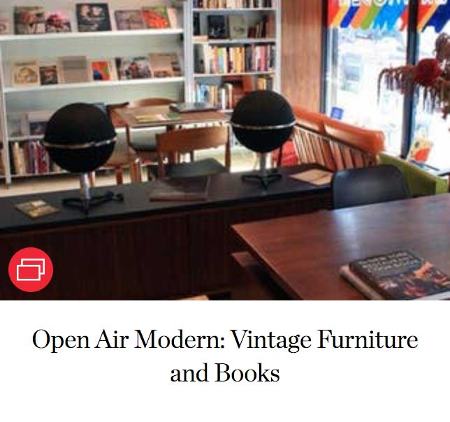 Open Air Modern: Vintage Furniture and Books