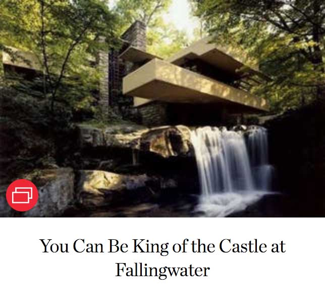 You Can Be King of the Castle at Fallingwater