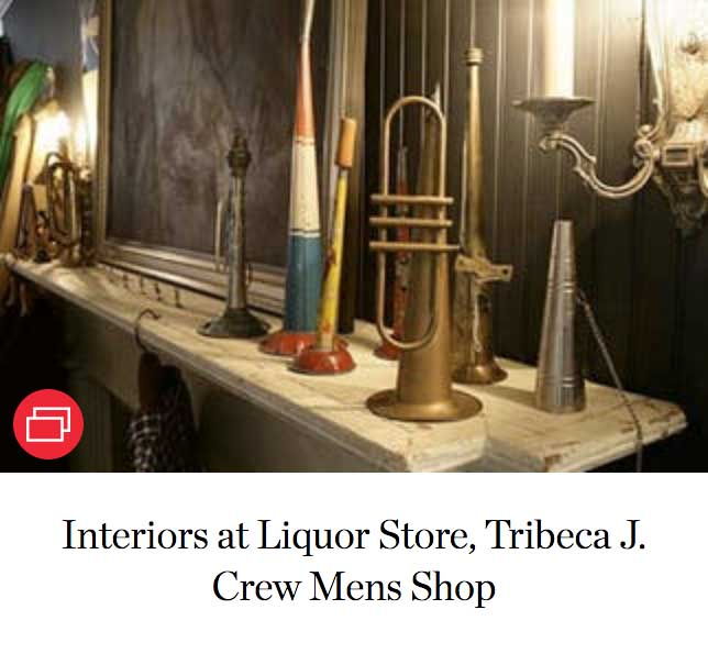 Interiors at Liquor Store, Tribeca J. Crew Mens Shop