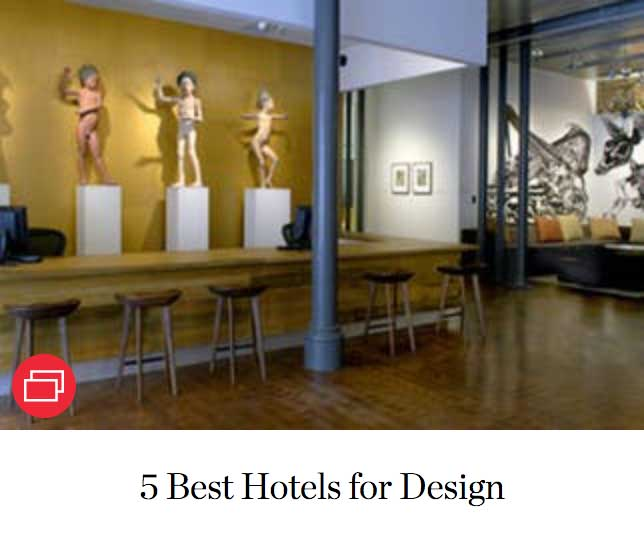 5 Best Hotels for Design