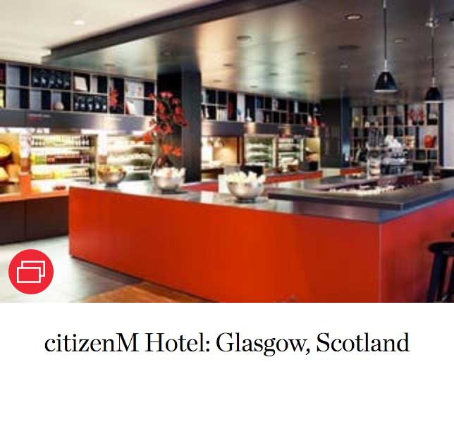 citizenM Hotel: Glasgow, Scotland