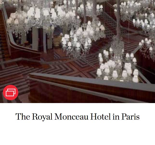 The Royal Monceau Hotel in Paris