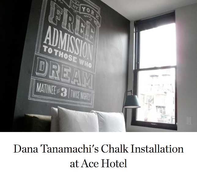 Dana Tanamachi's Chalk Installation at Ace Hotel