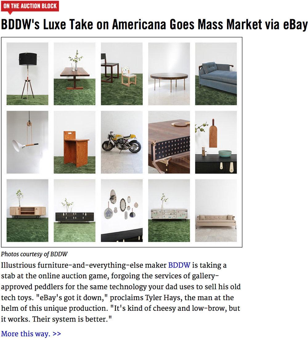 BDDW's Luxe Take on Americana Goes Mass Market via eBay