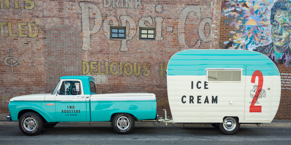 This is our rig. We sell amazing ice cream from it.                                                                                      Photo: Nick Milak