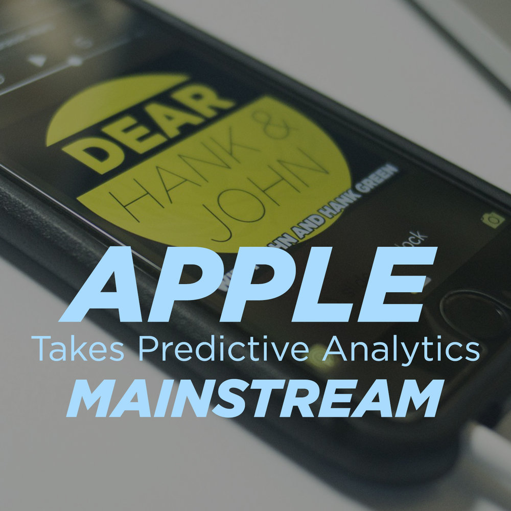 Apple Takes Predictive Analytics Mainstream
