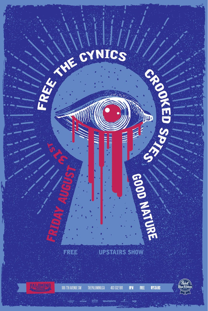 Friday, August 31st @ Palomino Smokehouse, Calgary, AB w/ Free the Cynics & Good Nature -