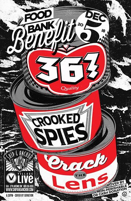 Wednesday, December 5th @ Ship & Anchor Pub w/ 36? & Crack the Lens -