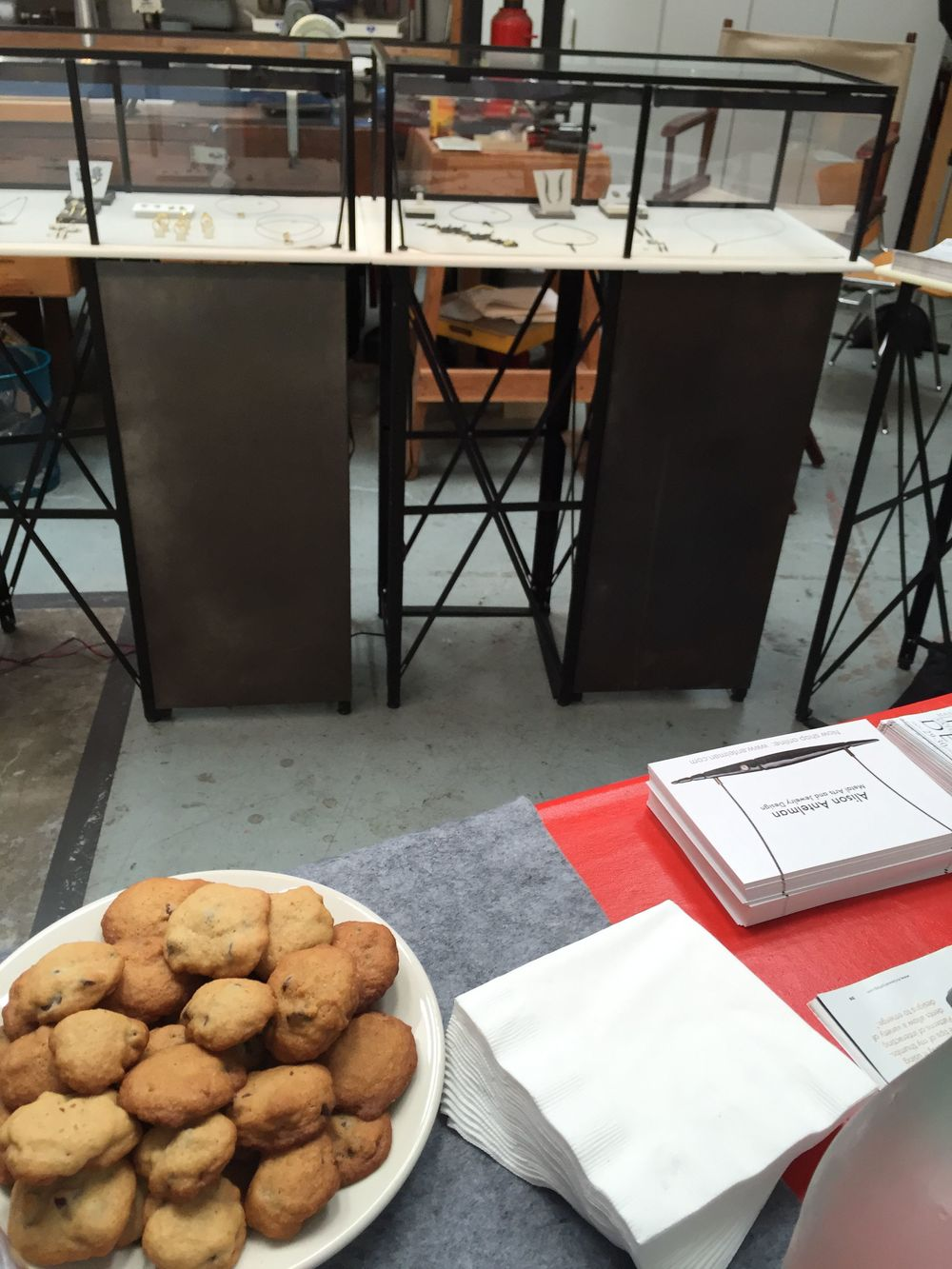 Alison's home made cookies for Berkeley Artisans Holiday Open Studios.