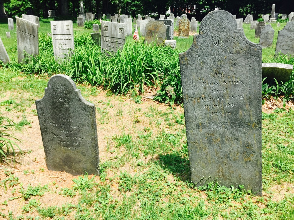 Tombstones at the Ashfield cemetery seem right out of 'central casting.'