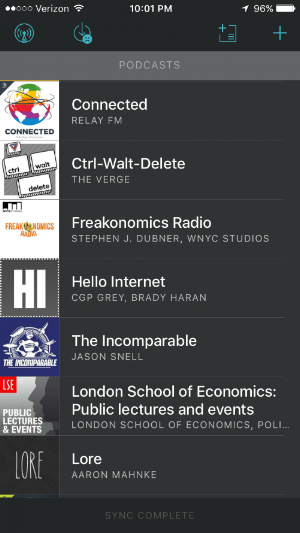 Some of the podcasts I'm listening to.