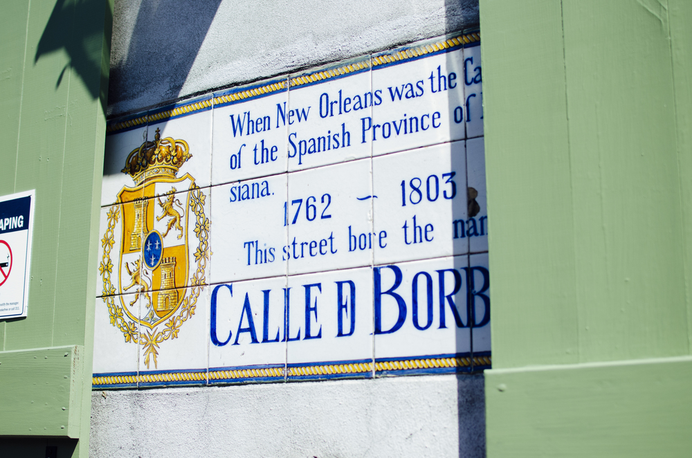 "The Big Easy is such a beautiful city with so much history! You can see these ""plaques"", or signs around the city."