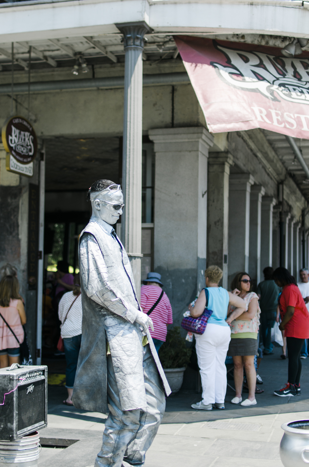 Metal man doing his thing in Jackson Square. This city is filled with artists and performers that make New Orleans a place you want to enjoy and visit.