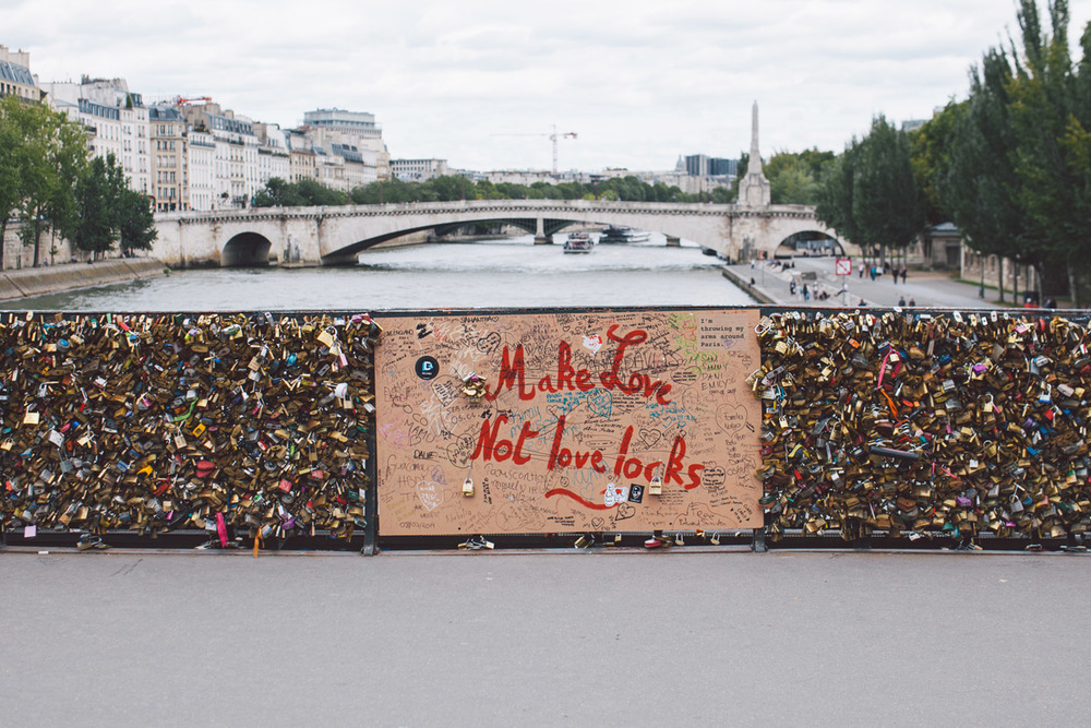 Pont Des Arts, blessed to have seen this iconic symbol of Parisian romance before all the locks were removed.