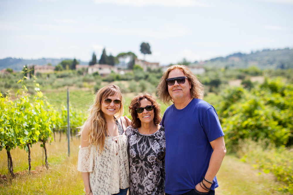 My people, my support, my family who I love with all my heart (especially after they drove me around the tiny winding roads of Tuscany in a vintage Fiat!)