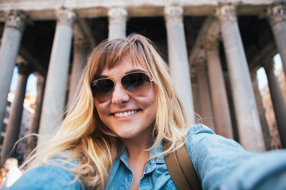Pantheon selfie!!!! After I cried my eyes out because I was so happy to be there.