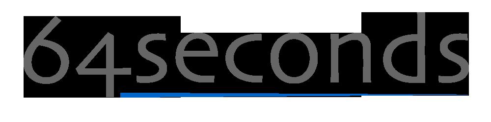 64 seconds logo