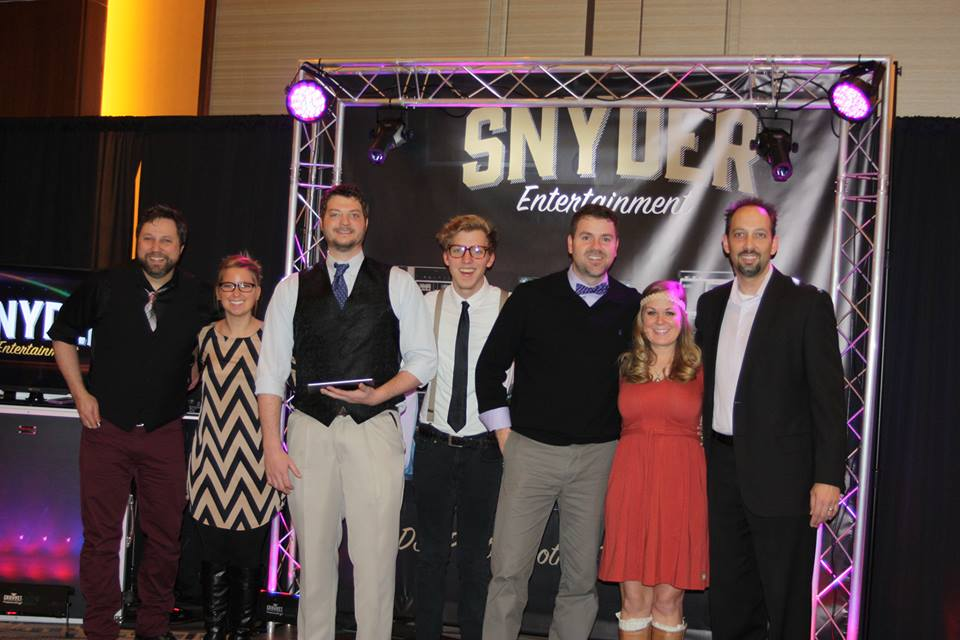 (L to R: Brad Ford, Ashley Harrison, J Clark Anderson, Matt Morris, Brian Snyder, Ashley Snyder, and Thames Jackson)