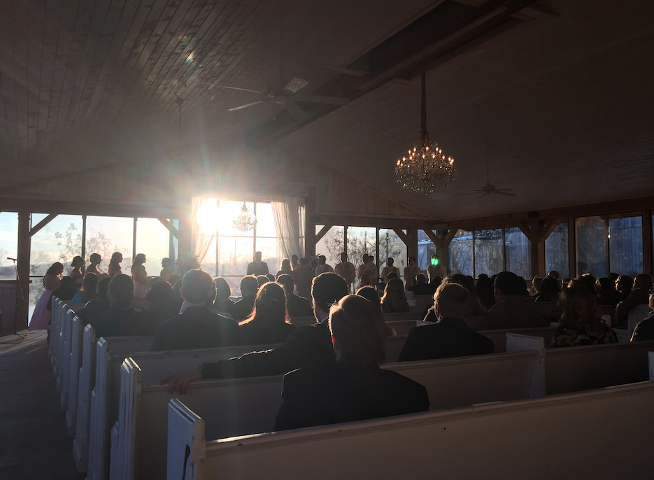 Mint Springs Farm ceremony pavilion.