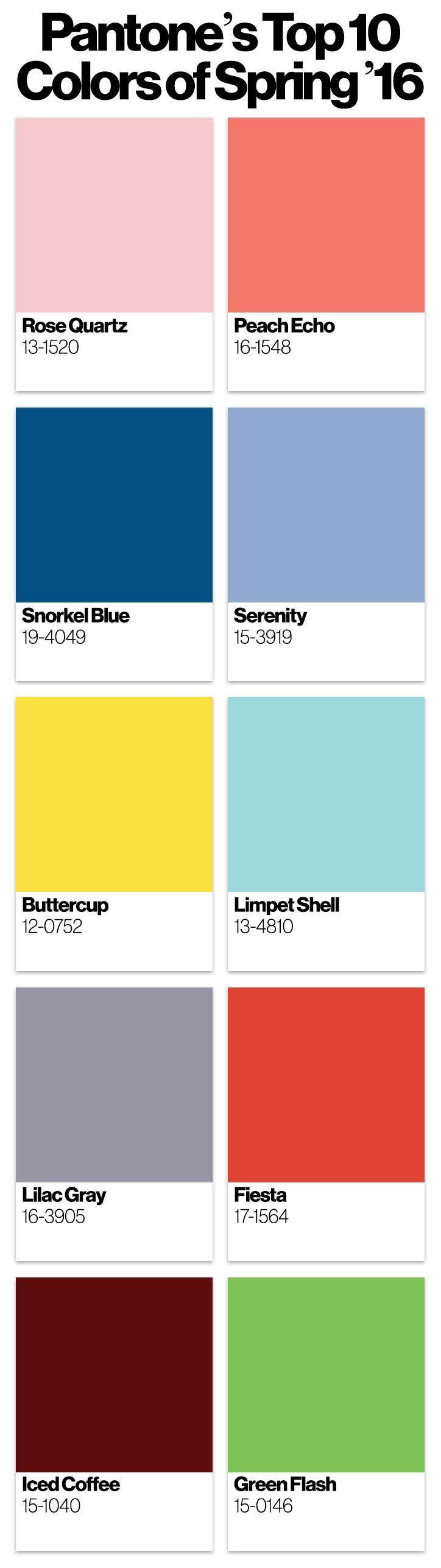 2016 color trends spring pantone color of the year for Color of the year 2016