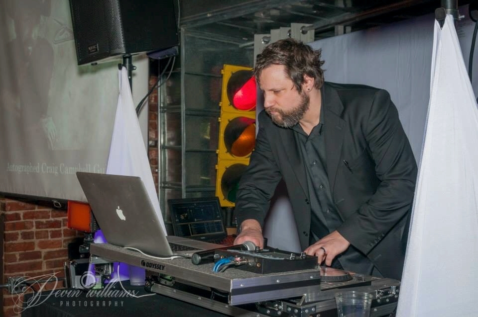 Brad DJ'ing an event earlier this year!