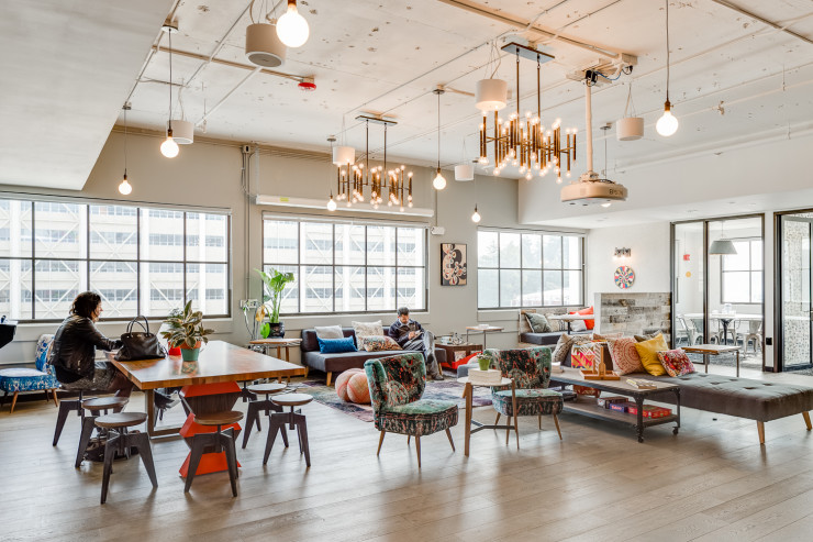 co-working spaces -