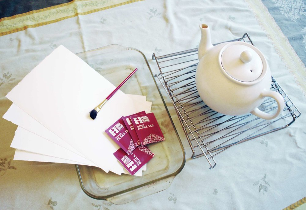 How to dye paper with Tea