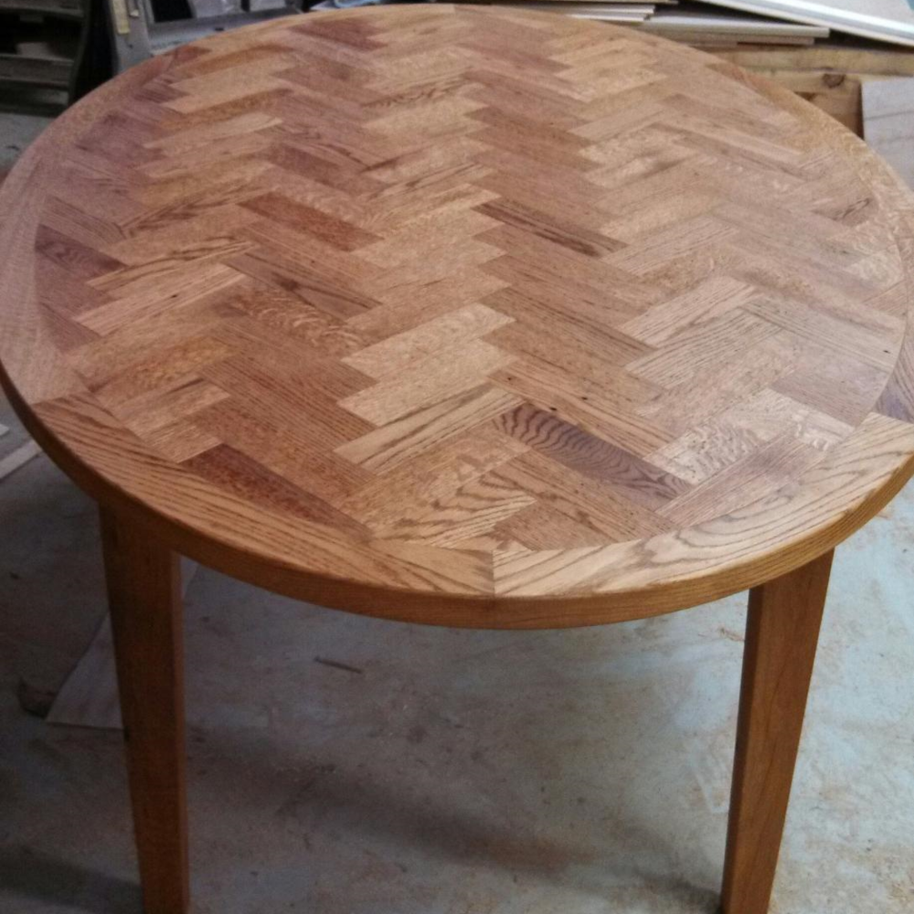 5. Oak, Herringbone Design