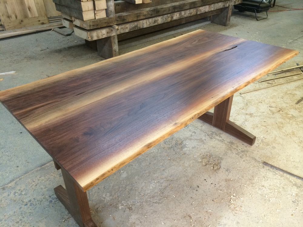 14. Black Walnut with Trestle Base