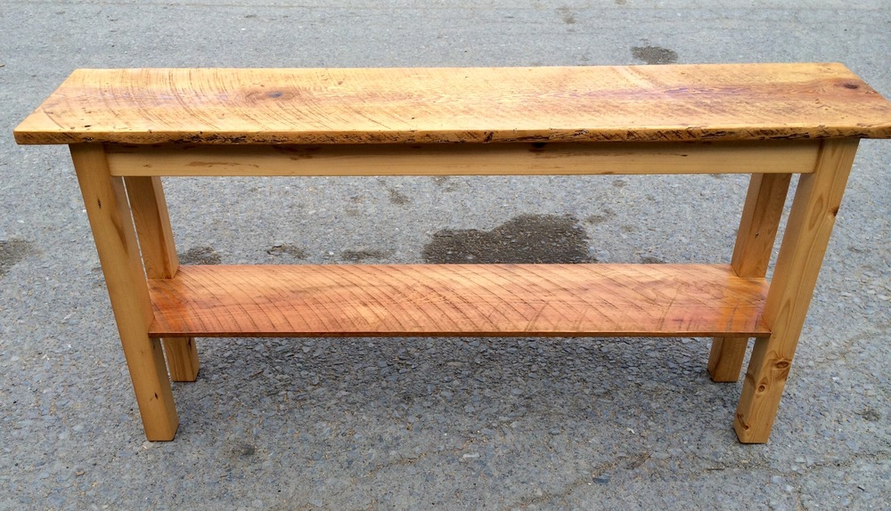15. Circle Sawn Pine Sofa Table