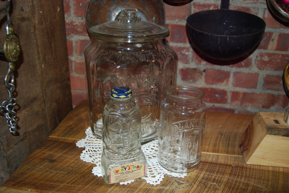Planter's Peanuts Glass Jars