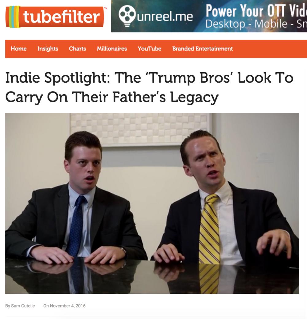 http://www.tubefilter.com/2016/11/04/indie-spotlight-trump-bros/