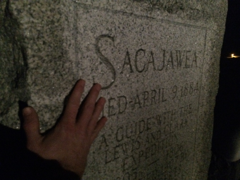 "Had to touch the headstone to add for the ""closeness effect"" for the pic I sent to my friend."