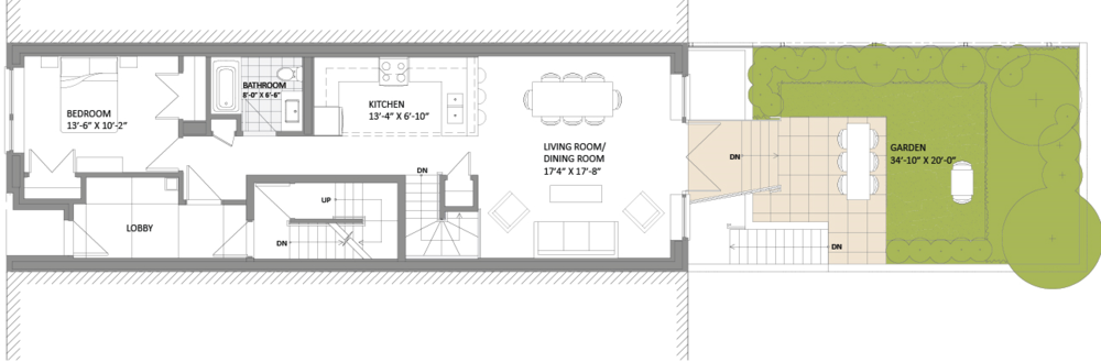 Apt 1 Upper Level (Ground Floor)