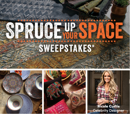 Enter Cost Plus World Market's Spruce Up Your Space Sweepstakes! You could win a $5000 Worl Market Shopping Spree and design consultation with me! Sweepstakes end 9/30/16. #FallHomeRefresh #ad