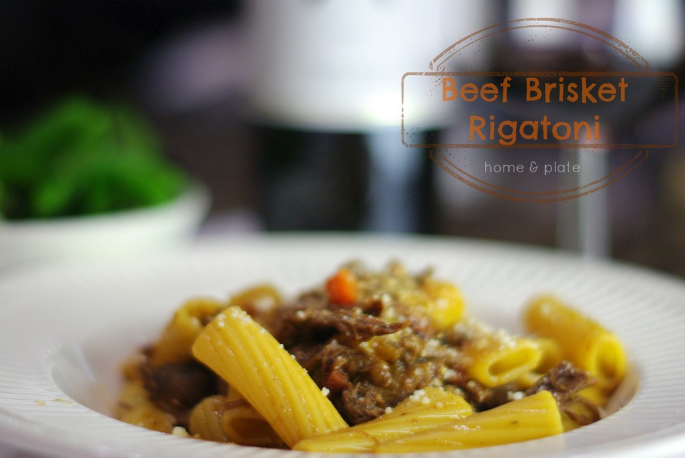 Beef Brisket Rigatoni | Home & Plate | www.homeandplate.com