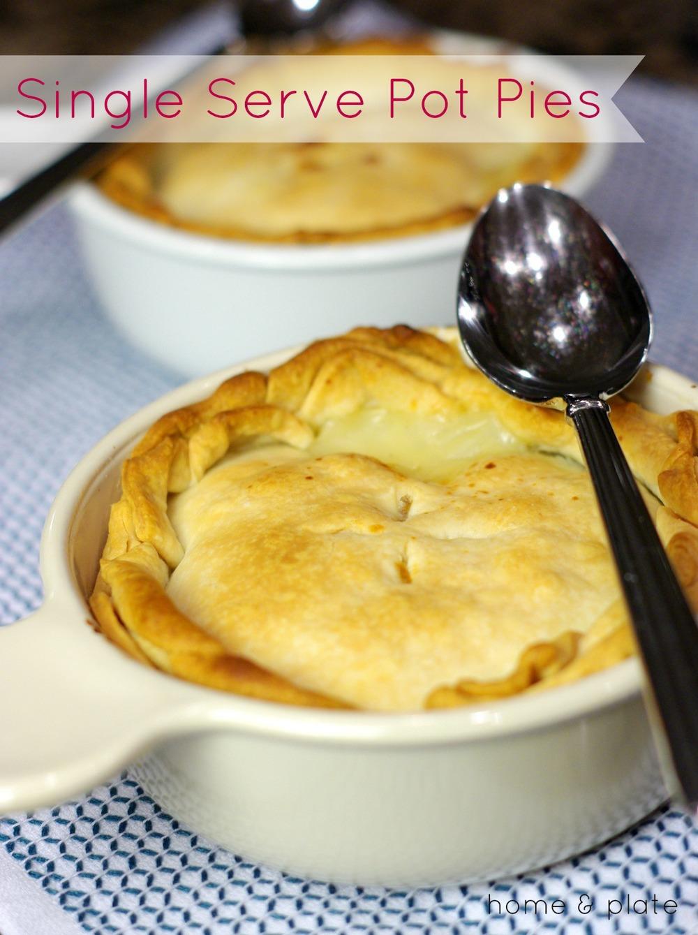 Individual Chicken Pot Pies Home Plate Easy Seasonal
