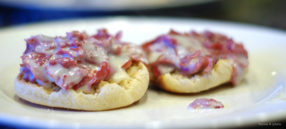 Chipped Beef on English Muffins