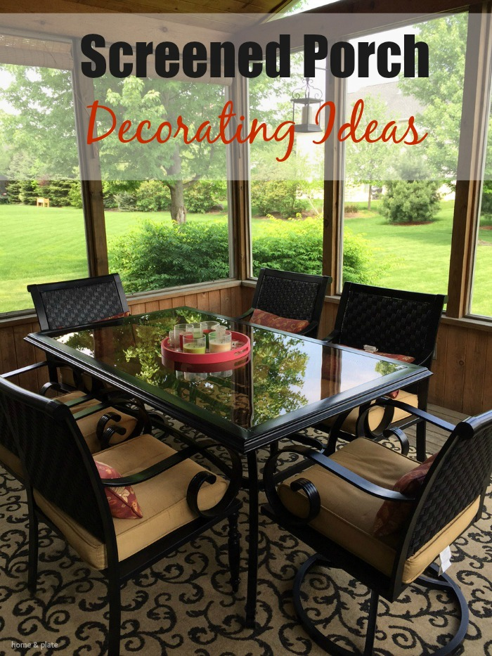 Charmant Screened Porch Decorating Ideas | Home U0026amp; Plate | Www.homeandplate.com |