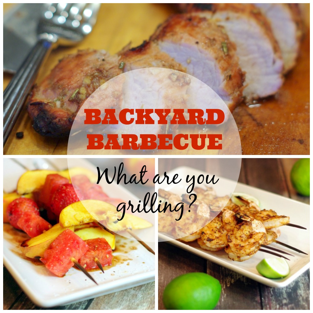 Backyard Barbecue | Home & Plate | www.homeandplate.com | It's grilling season! What's going on your grill?
