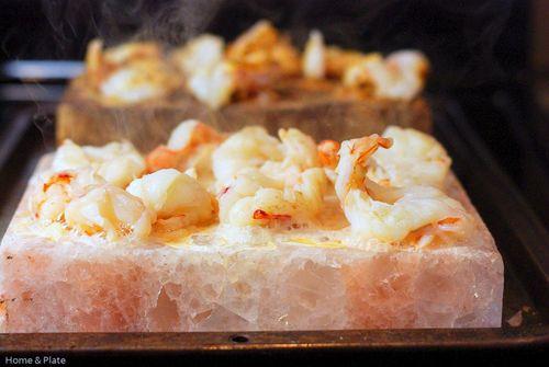 Salt Block Seared Shrimp Home Plate