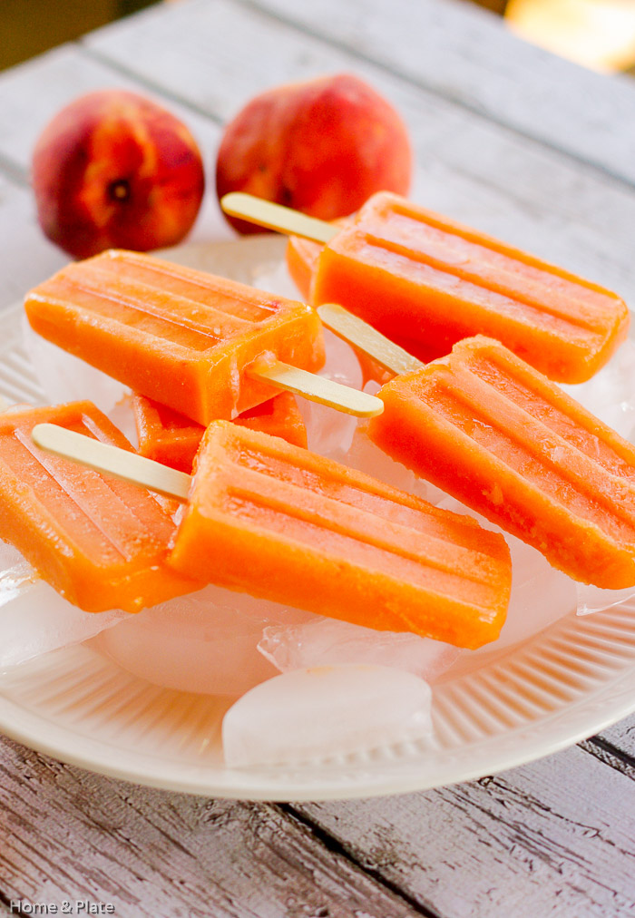 Peach Ginger Ice Pops — Home & Plate - Easy Seasonal Recipes