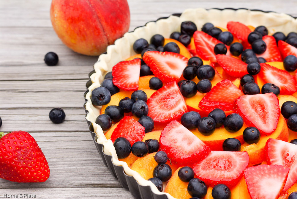 Classic Peach Tart With Summer Berries Home Amp Plate Fresh Ideas Amp Simple Recipes