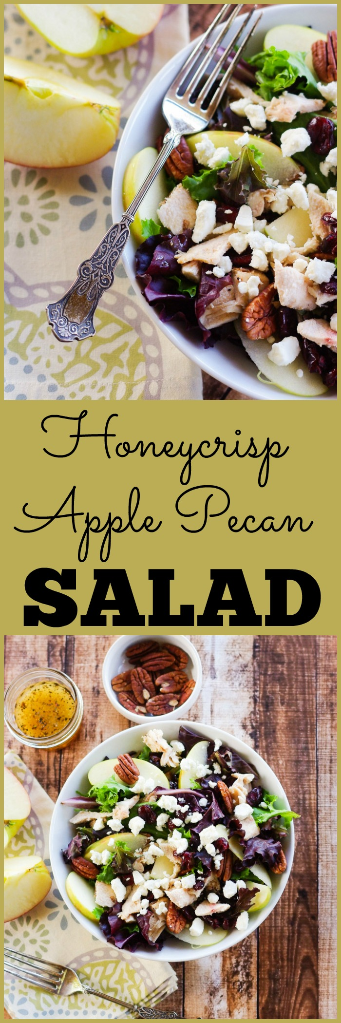 Honeycrisp Apple Pecan Salad with an Apple Cider Vinaigrette — Home ...