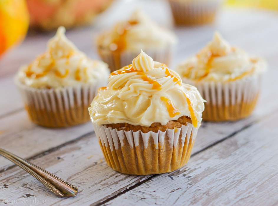 Harvest Pumpkin Cupcakes With A Salted Caramel Frosting Home